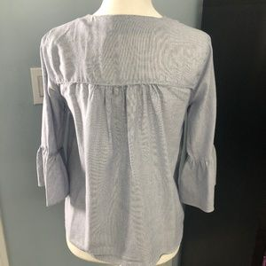 Madewell XXS Pinstripe Blouse Soft Cotton